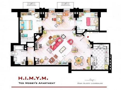 Apartamento de Ted Mosby, da série How I Met Your Mother
